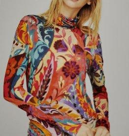 Aldo Martins Thais Vibrant Floral Knit Top