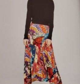 Aldo Martins Vera Vibrant Floral Knit Skirt