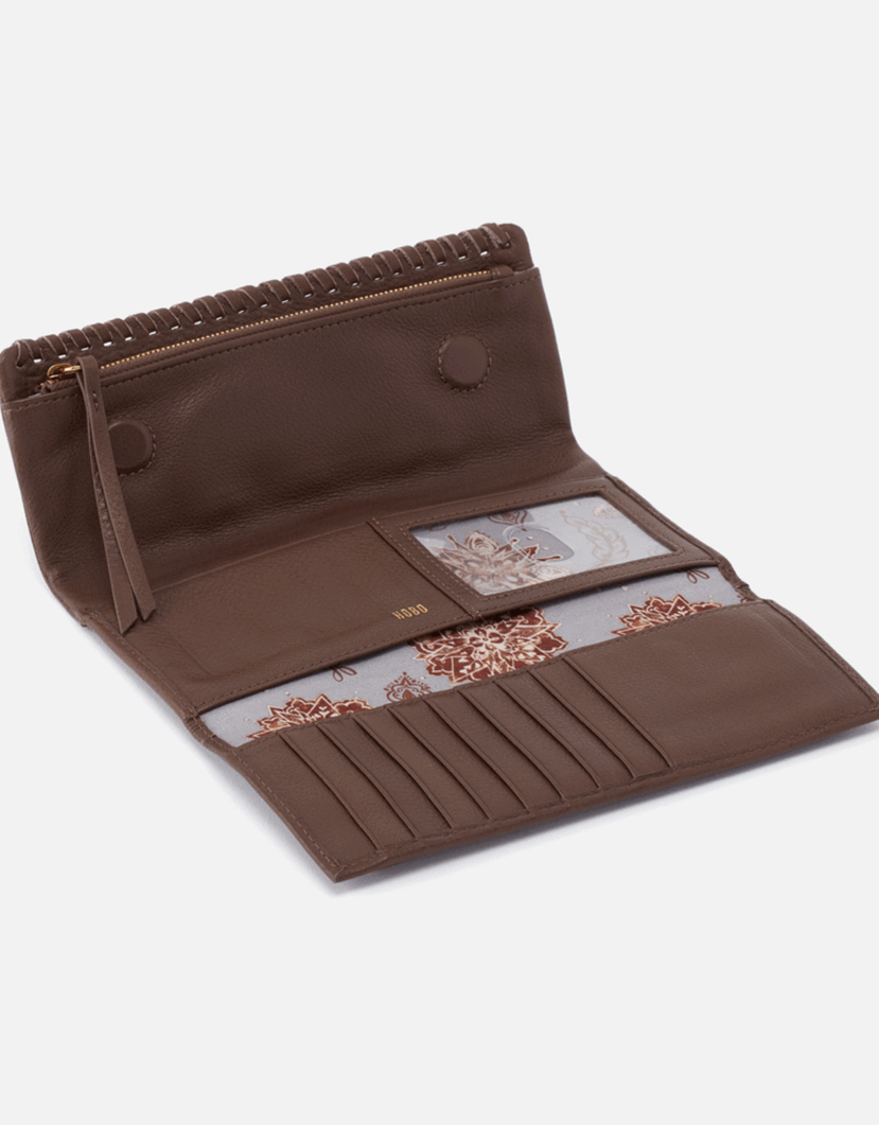 HOBO Wade Large Trifold Wallet in Acorn