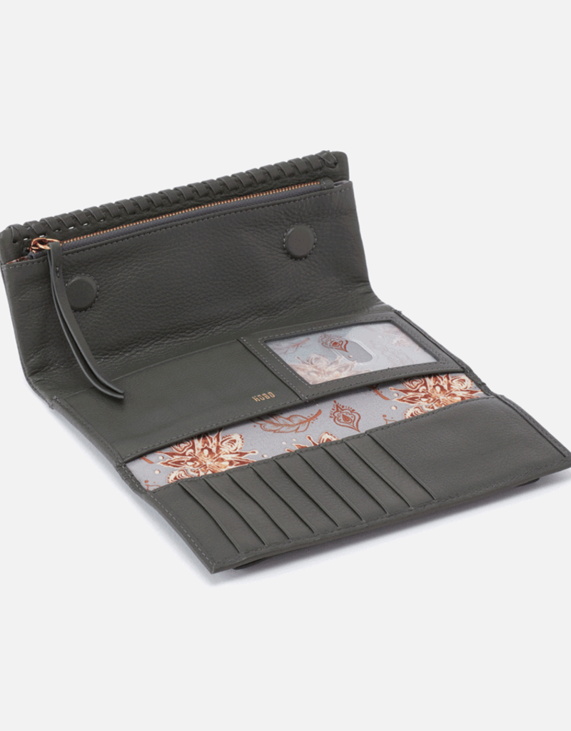 HOBO Wade Large Trifold Wallet in Sage Brush