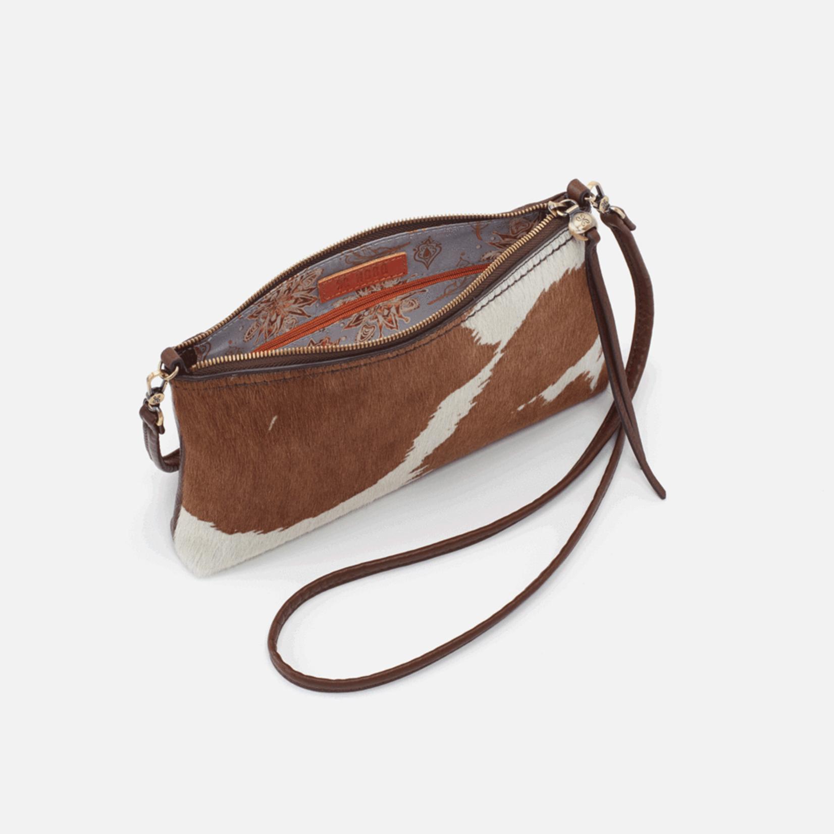 HOBO Darcy Cow Print Leather Wristlet/Crossbody