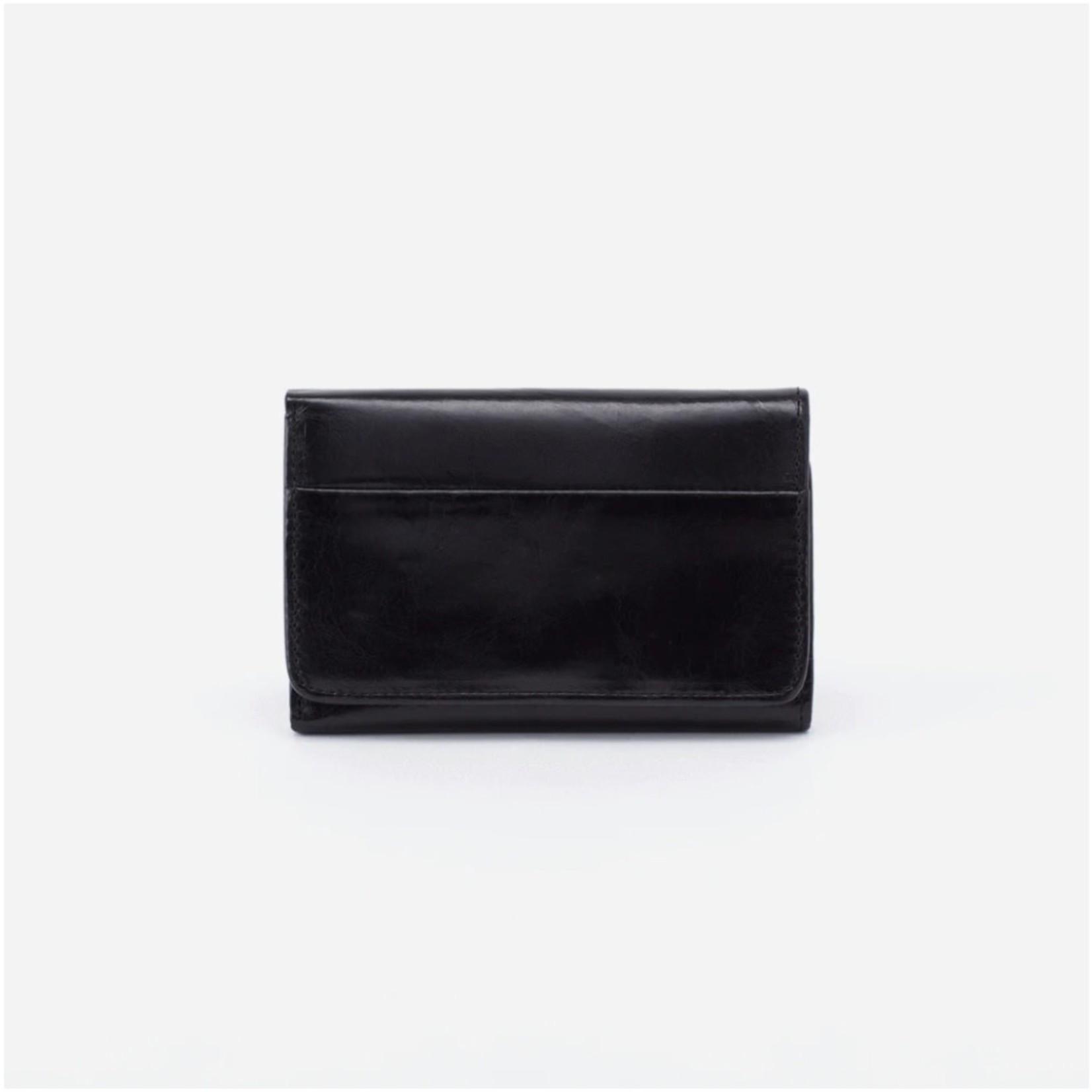 HOBO Jill Black Vintage Hide Leather Trifold Wallet