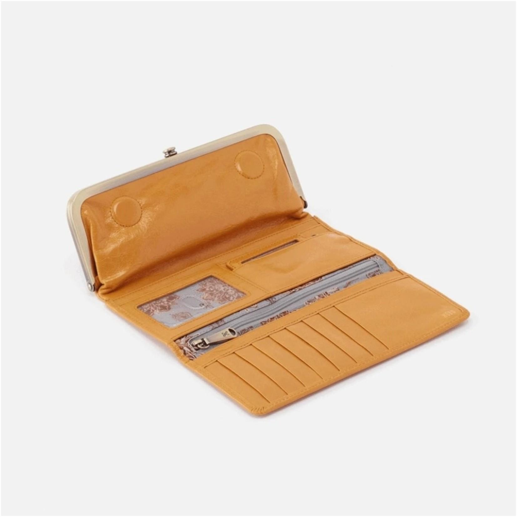 HOBO Rachel Mustard Vintage Leather Foldover Wallet