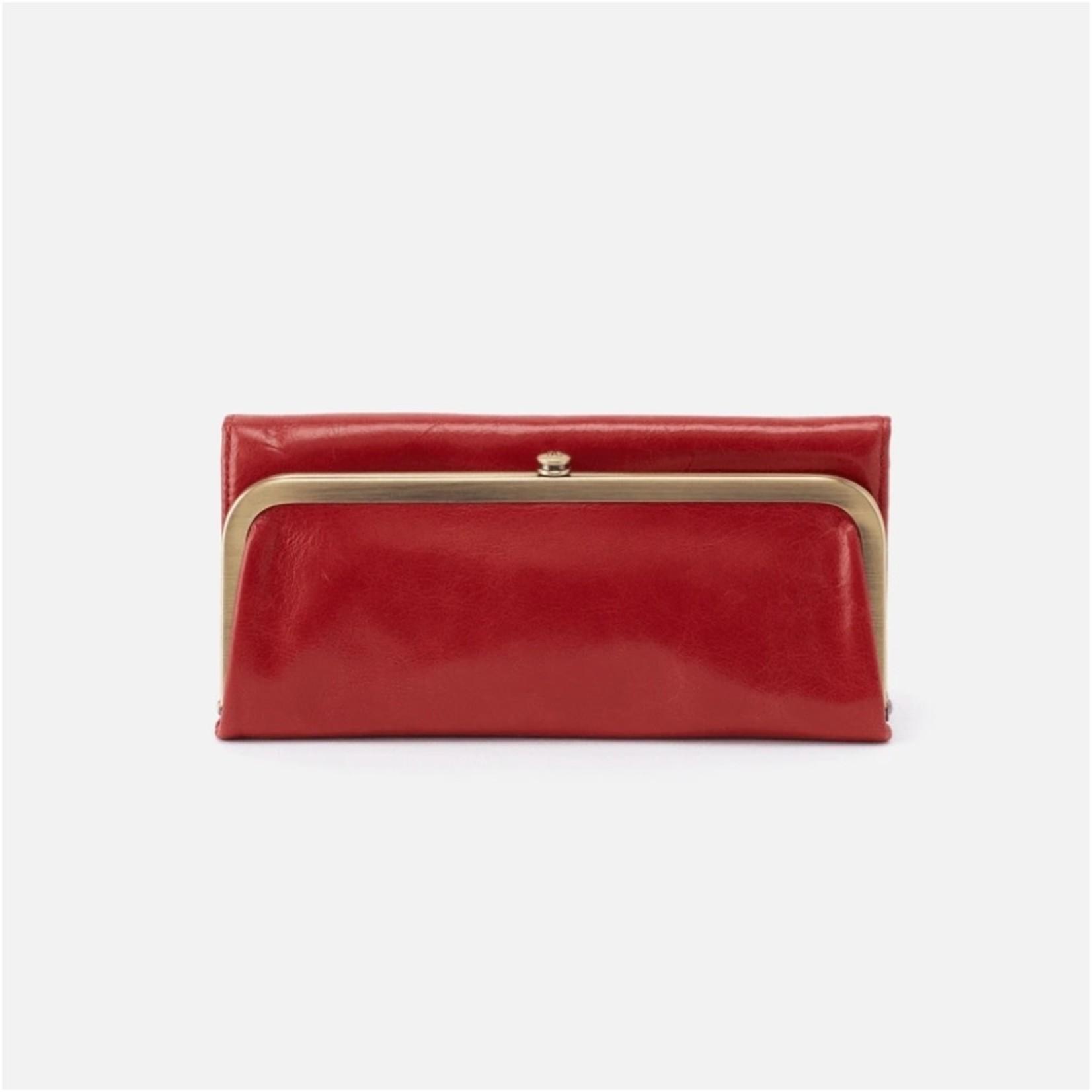 HOBO Rachel Brick Vintage Leather Foldover Wallet