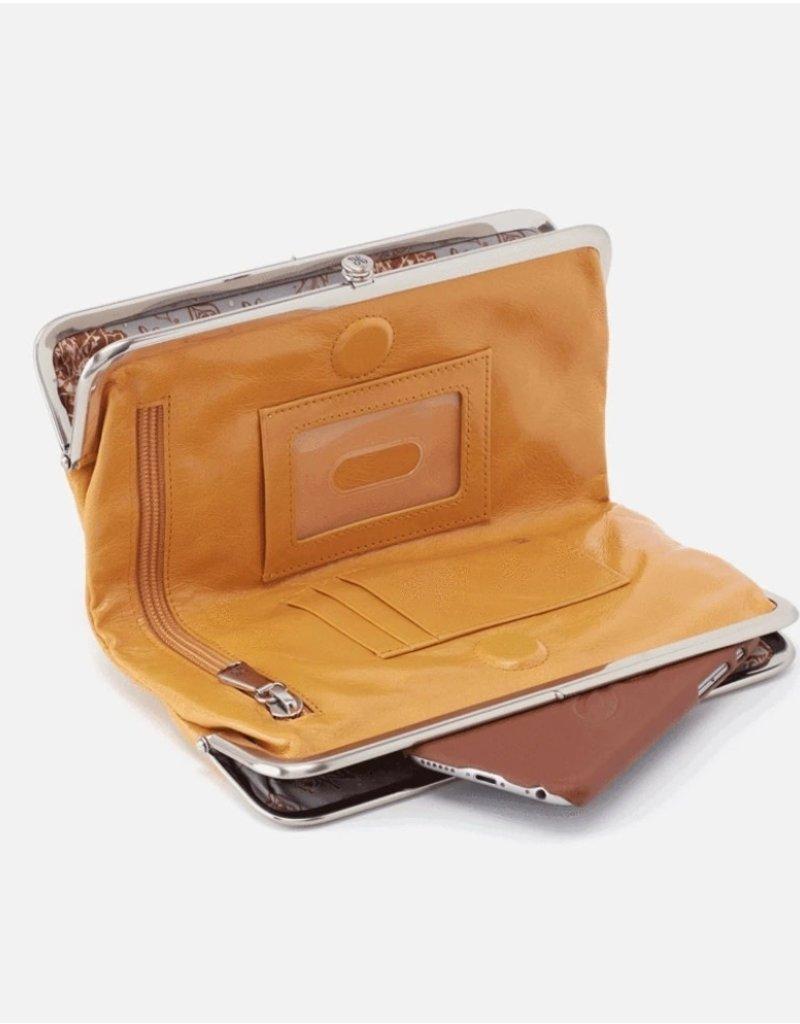 HOBO Lauren Mustard Vintage Hide Leather Wallet/Clutch