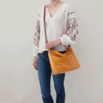HOBO Delilah Mustard Vintage Leather Handbag