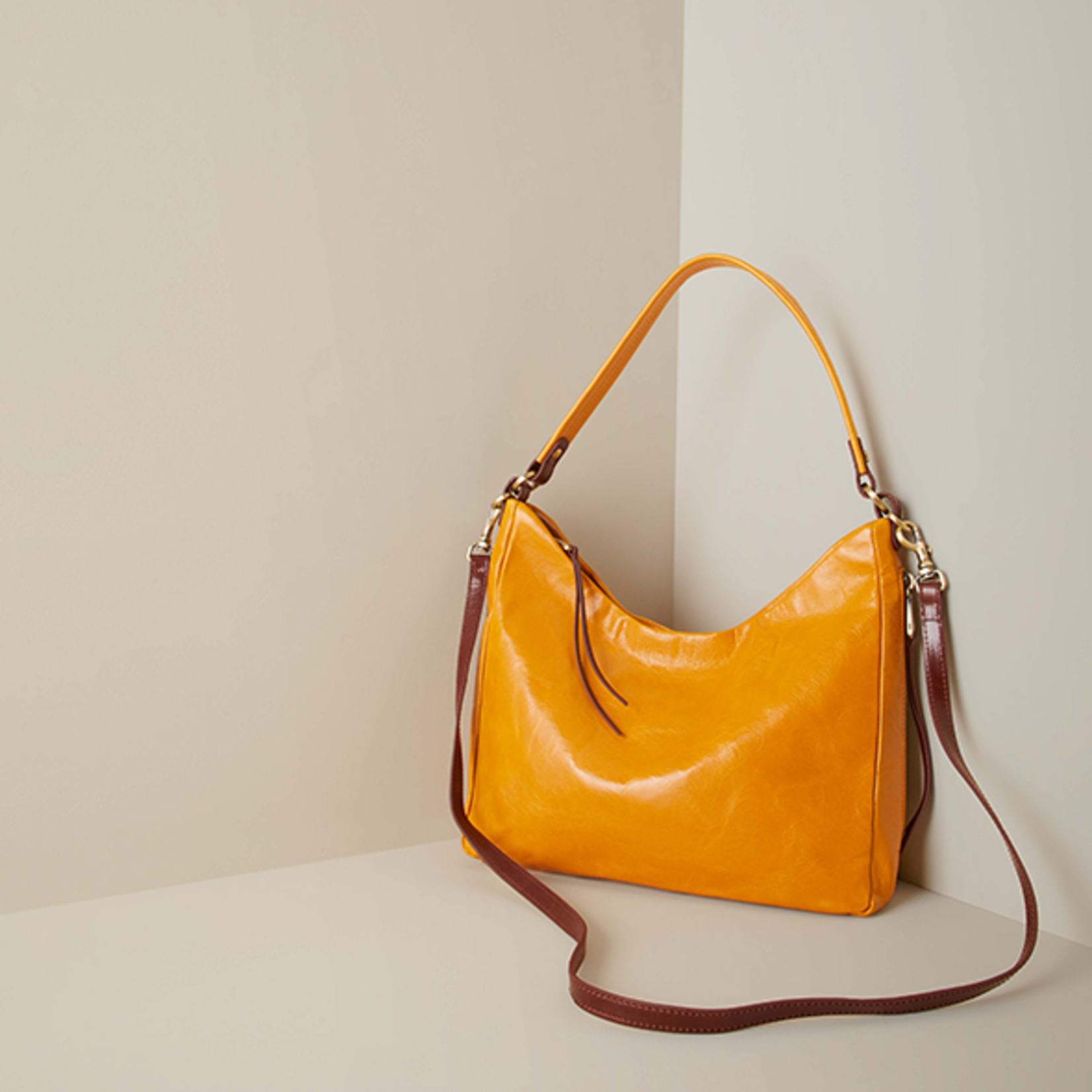 HOBO Delilah Mustard Vintage Leather Handbag