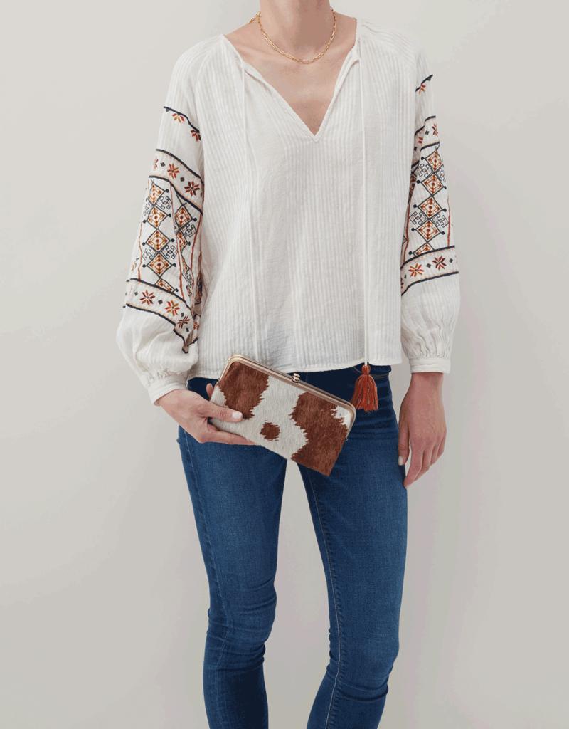 HOBO Lauren Cow Leather Wallet/Clutch