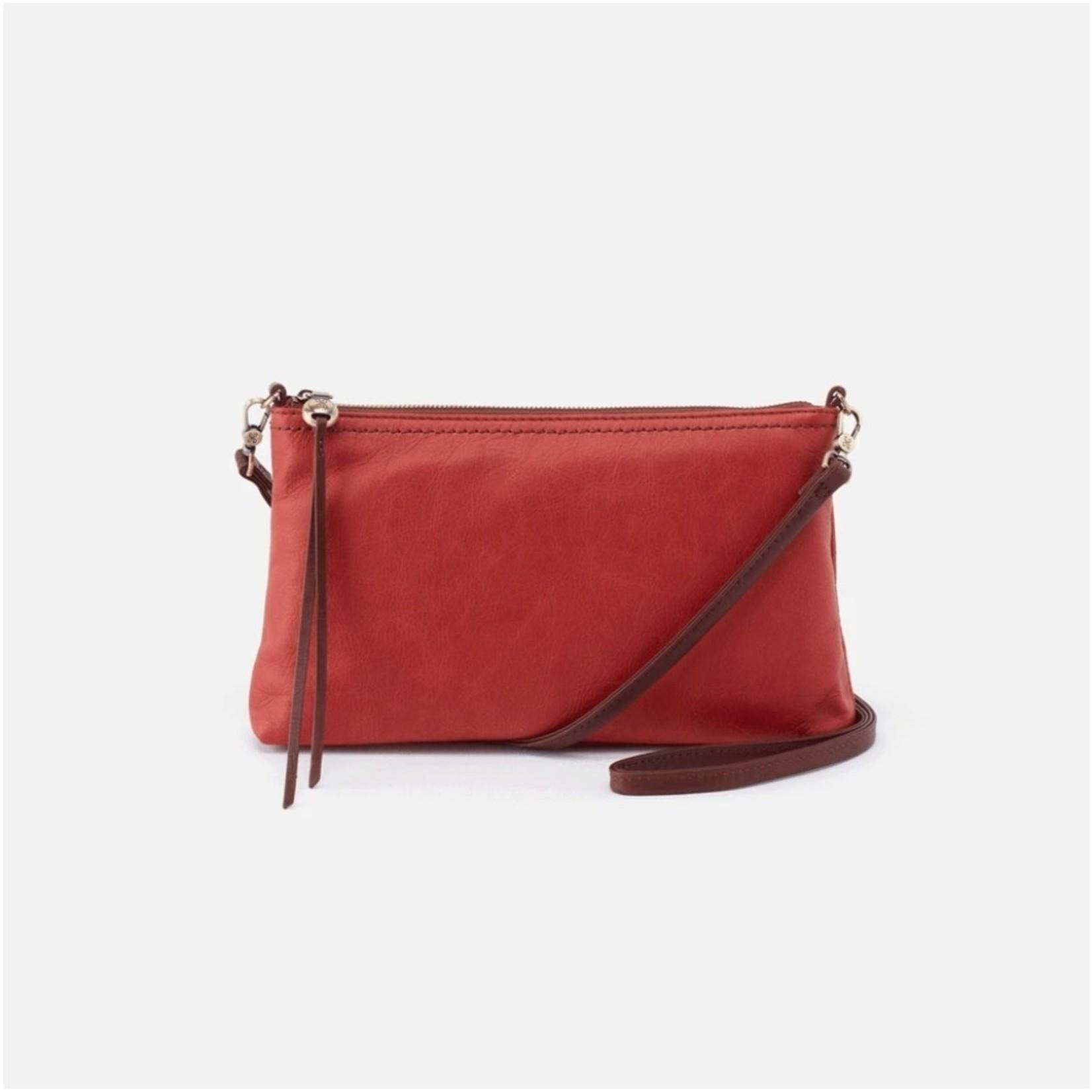 HOBO Darcy Brick Leather Wristlet/Crossbody