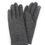 Grey Fleece Gloves w/ 2 Buttons