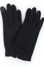 Black Fleece Bow Gloves