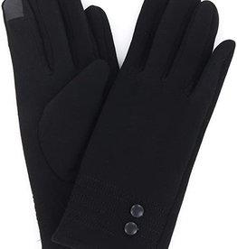 Black Fleece Gloves w/ 2 Buttons