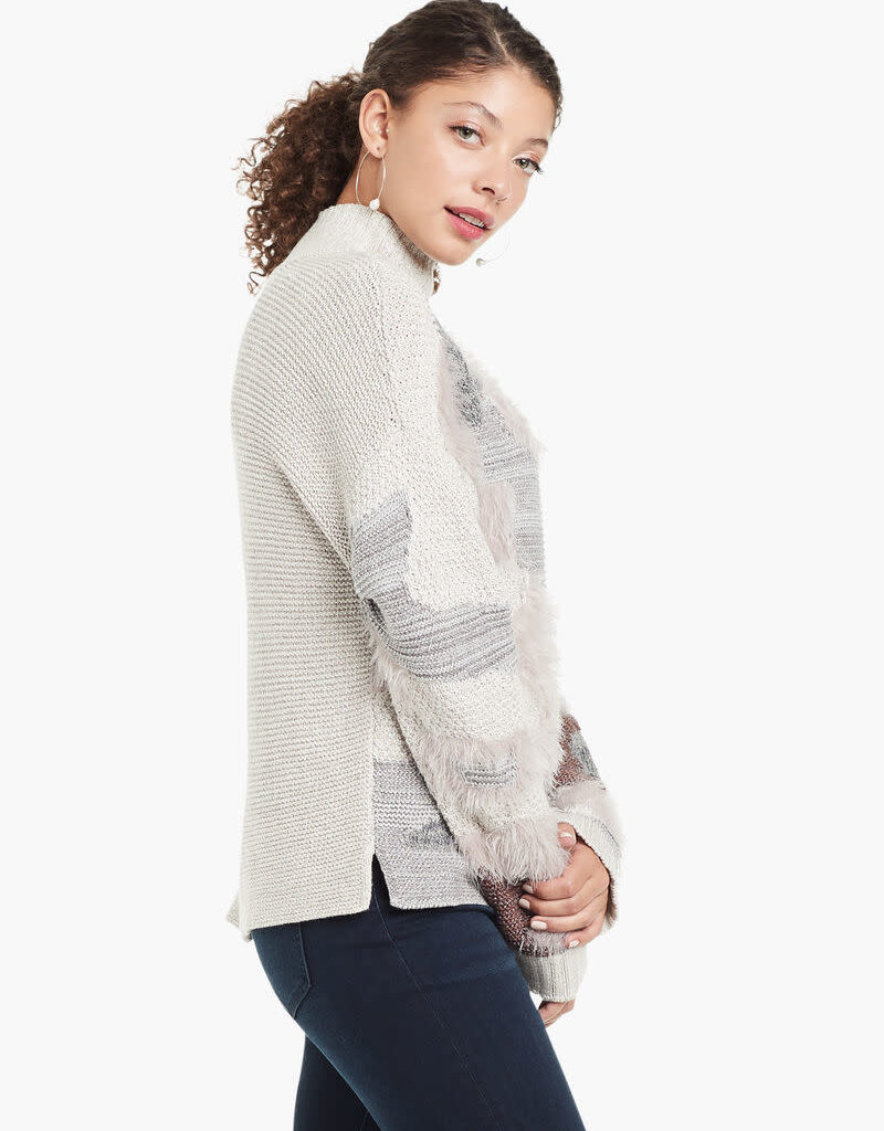 Nic+Zoe Fluffy Florals Turtleneck Sweater