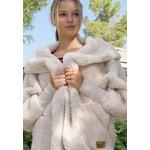 Nordic Beach Fuzzy Fleece Hooded Cardigan in Fluffy Frappe