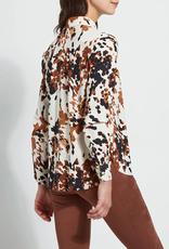 Connie Slim Button Down Cowhide Printed Shirt