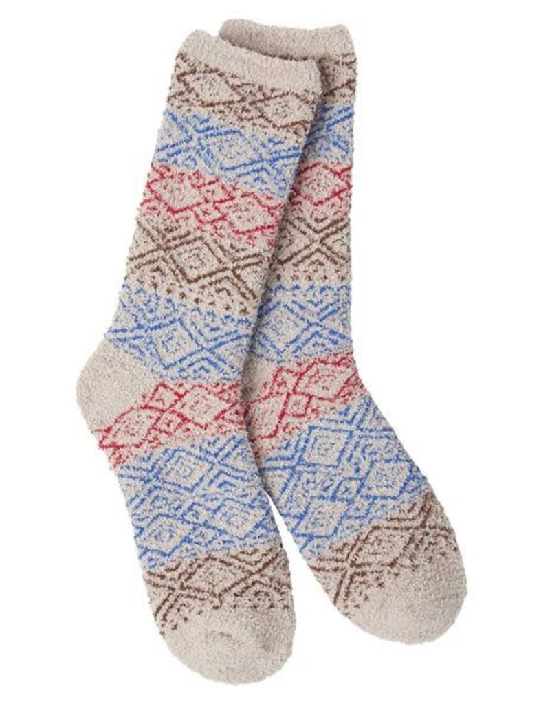 World's Softest World's Softest Weekend Collection – Cozy Crew Socks- Blitz Taupe