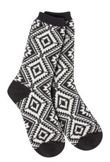 World's Softest World's Softest Weekend Collection - Aztec Crew Socks Soft - Black