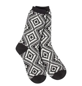 World's Softest World's Softest Weekend Collection - Aztec Crew Socks Soft - Black