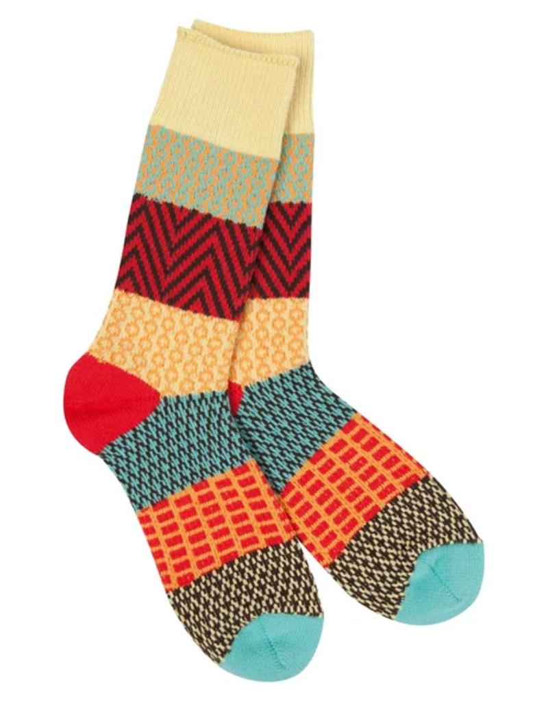 World's Softest World's Softest Weekend Collection – Gallery Crew Socks- Fiesta
