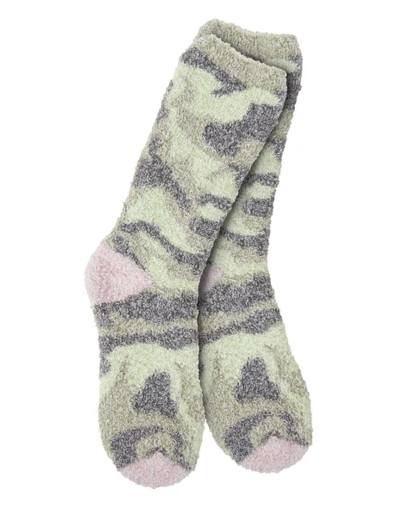 World's Softest Weekend Collection – Knit Pickin' Fireside Crew Socks- Camo