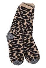 World's Softest Weekend Collection – Knit Pickin' Fireside Crew Socks- Cheetah