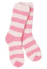 World's Softest World's Softest Knit-Pickin' Crew Socks - Pink Multi