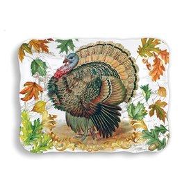 Michel Design Works Fall Harvest Turkey Melamine Cookie Tray