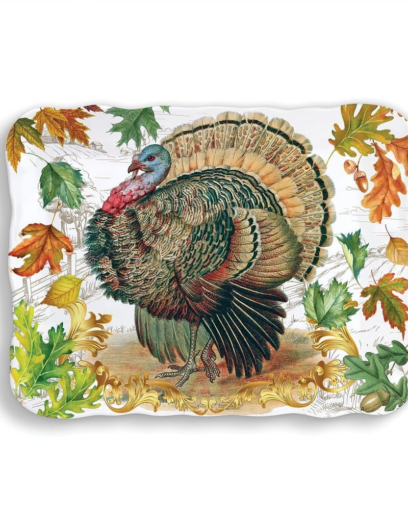 Fall Harvest Turkey Melamine Cookie Tray