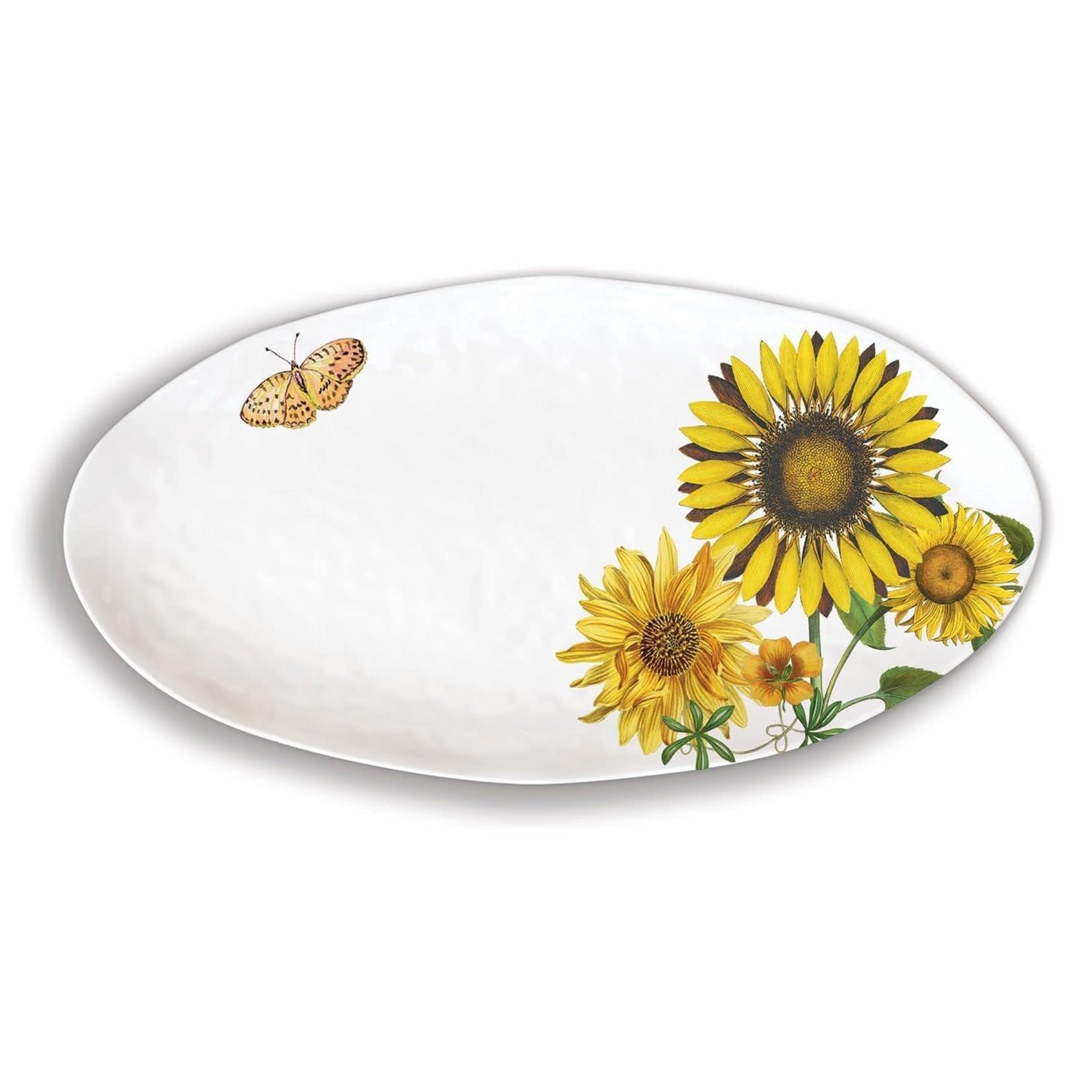 Michel Design Works Sunflower Melamine Oval Platter