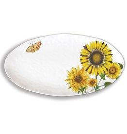 Sunflower Melamine Oval Platter