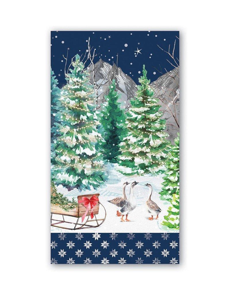 Christmas Snow Hostess Napkin