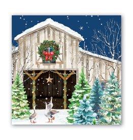 Michel Design Works Christmas Snow Luncheon Napkin