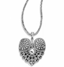 Brighton Mumtaz Heart Convertible Necklace; Size : Silver