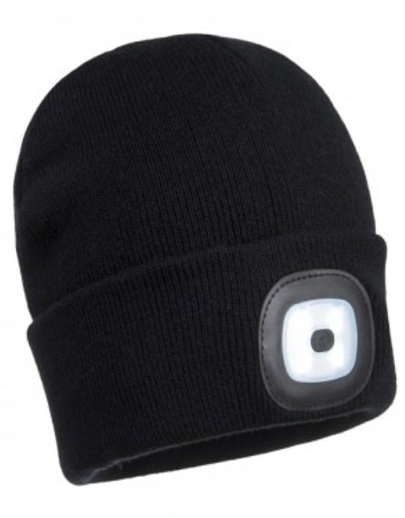 Rechargable LED Beanie - Black