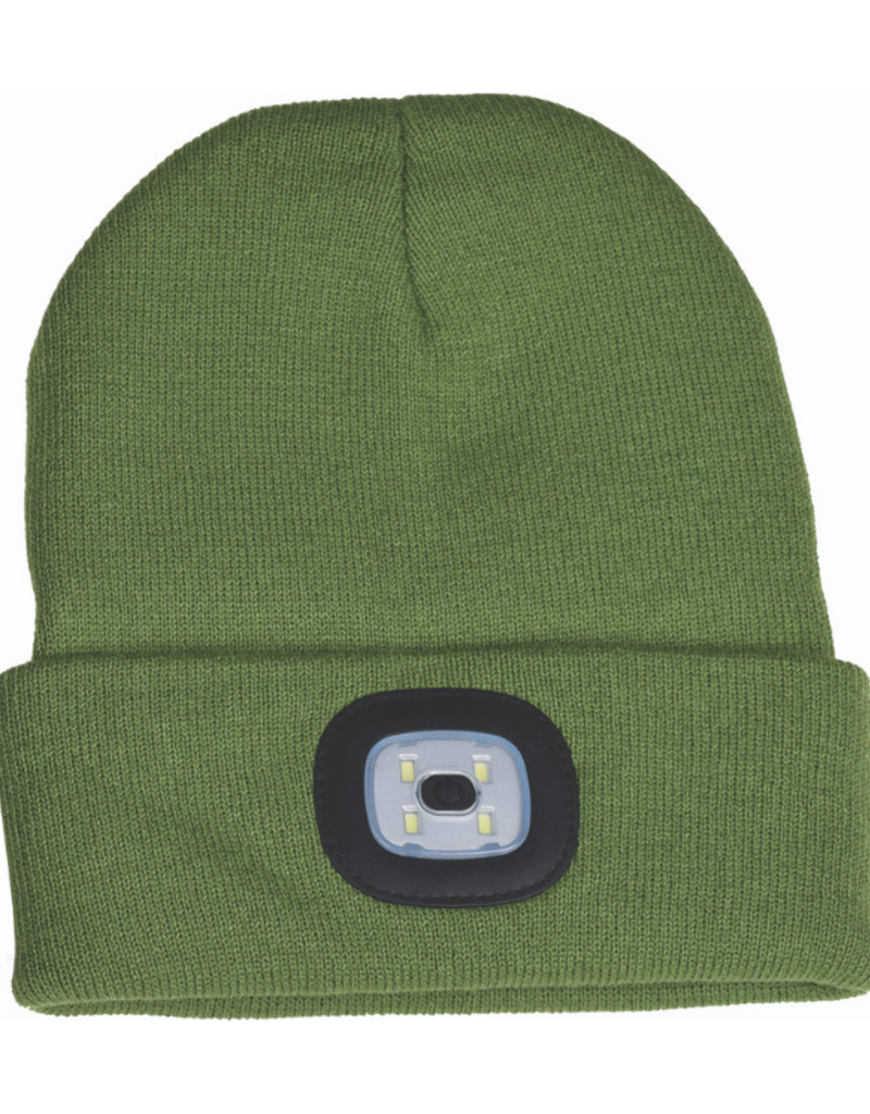 Rechargable LED Beanie - Olive