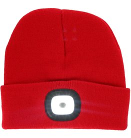 Rechargable LED Beanie - Red