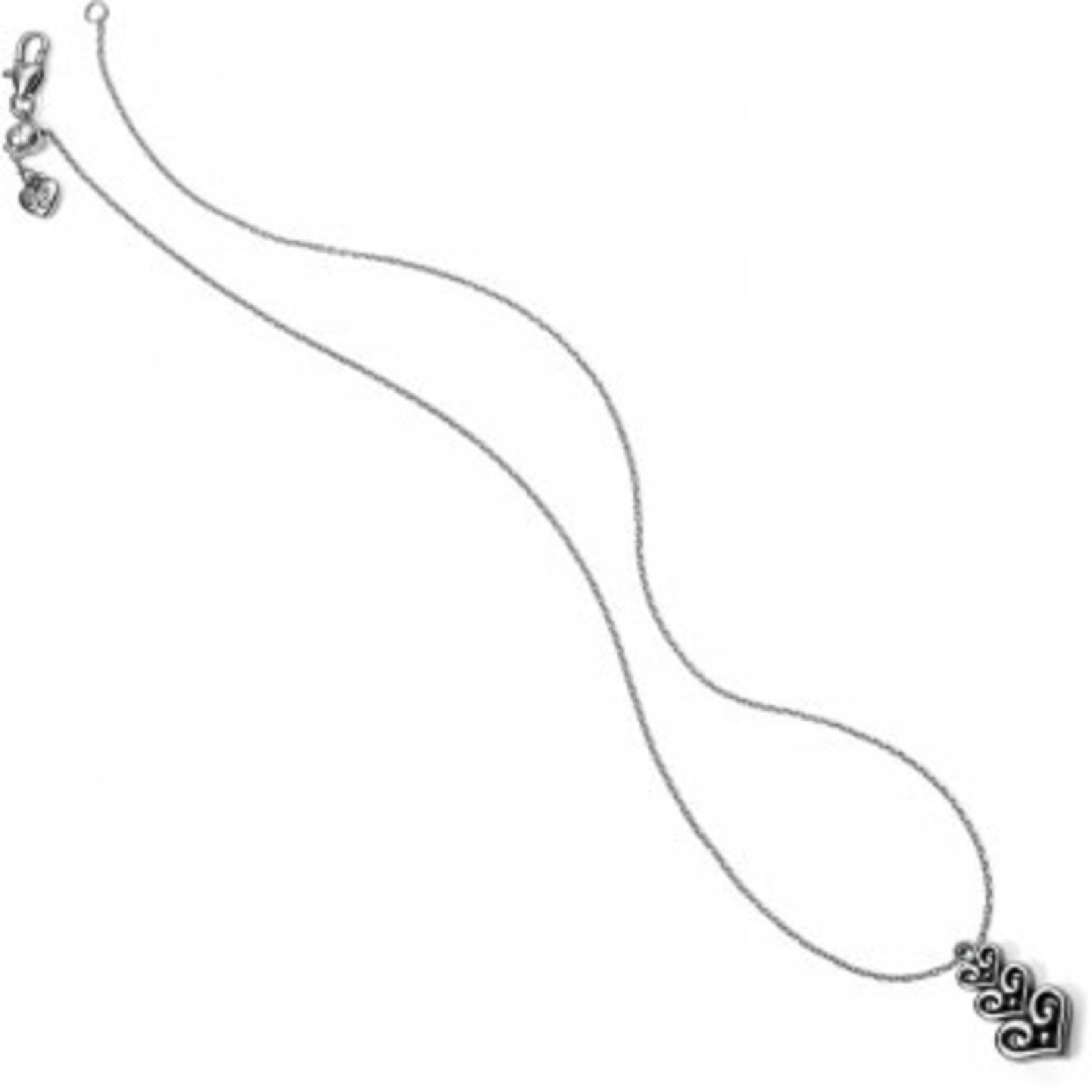 Brighton 65965 Necklace/AlcazarHeartTrioShort