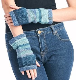 Alpaca Fingerless Gloves - Azul