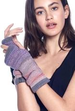 Alpaca Fingerless Gloves - Berry