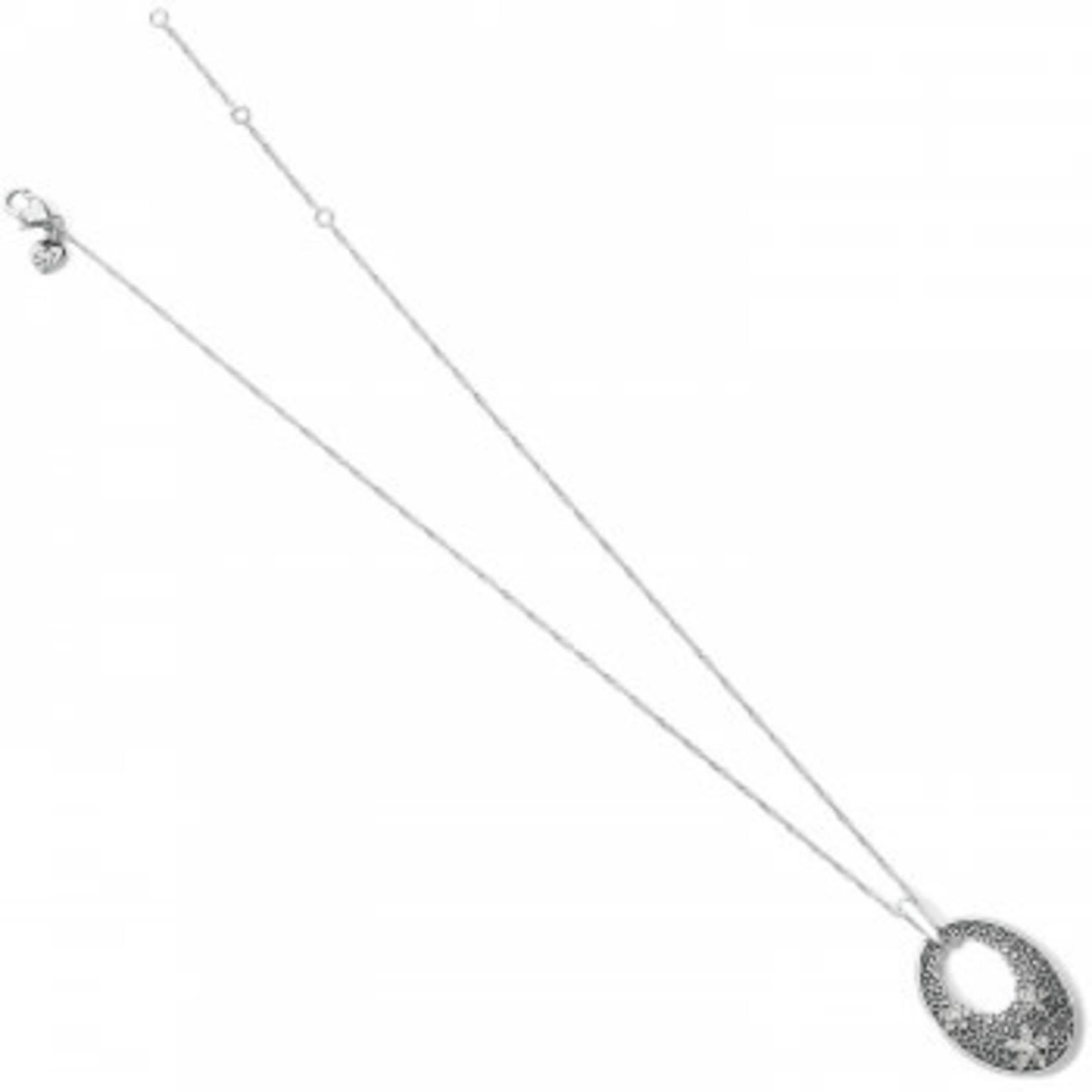 Brighton Baroness Fiori Oval Short Necklace Silver