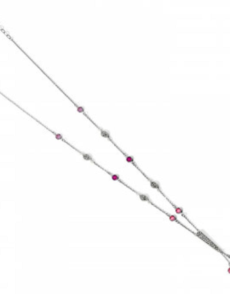 Brighton Elora Gems Y Necklace Silver-Blush