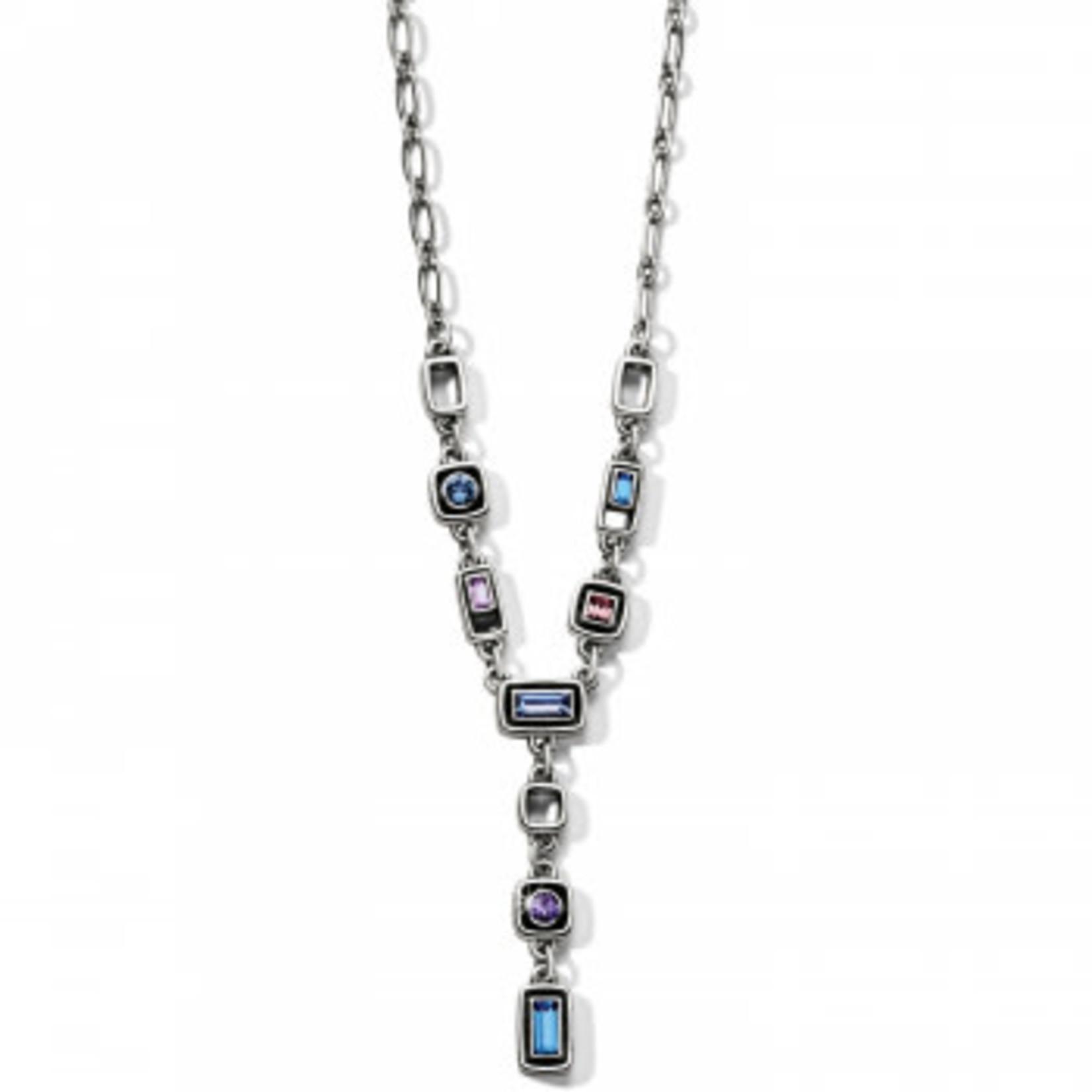Brighton Emilie Y Necklace Silver-Blue