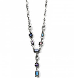 Brighton Emilie Y Necklace Silver-Blue