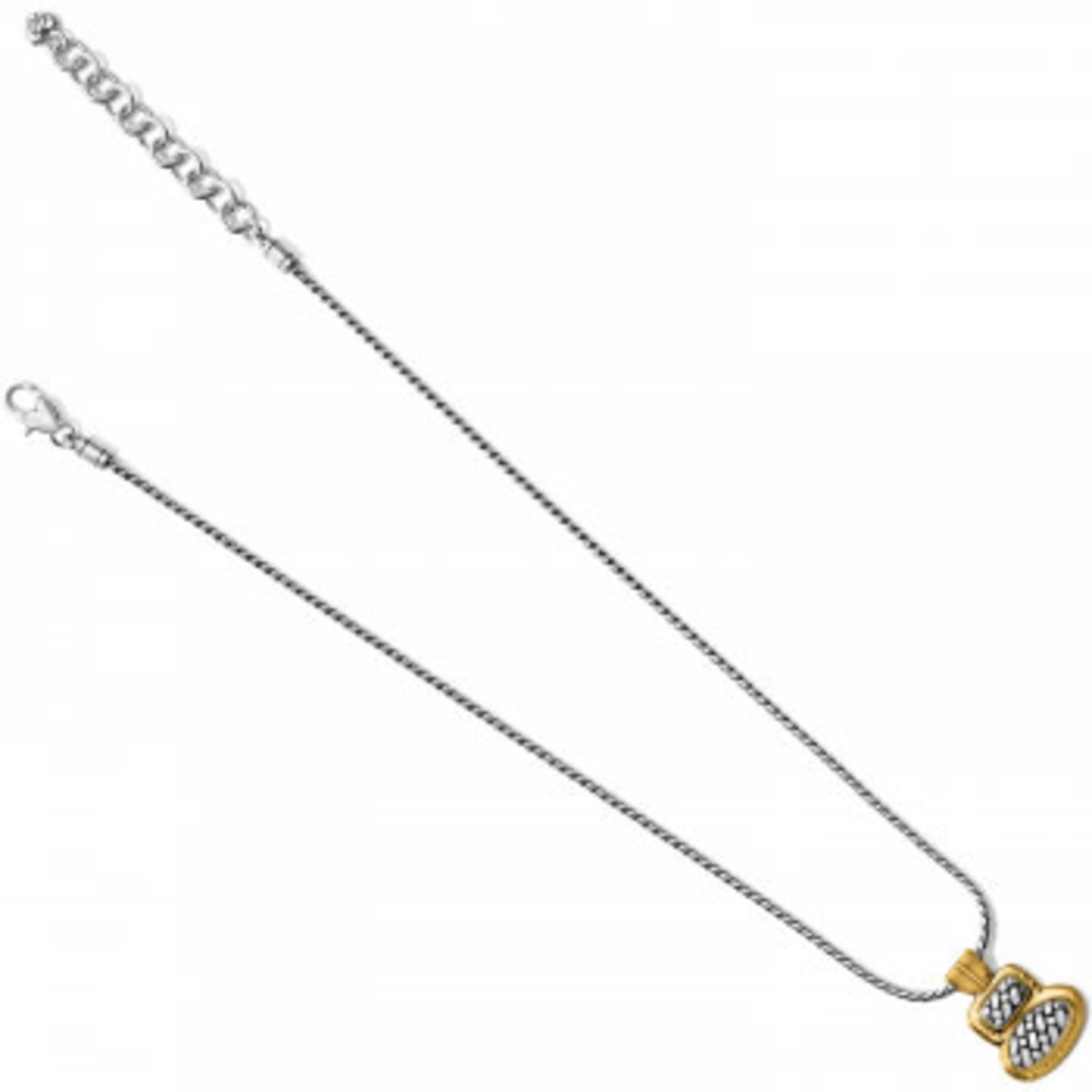 Brighton Ferrara Artisan Two Tone Duo Necklace Silver-Gold
