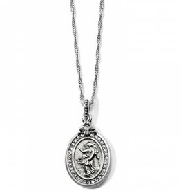 Brighton Guardian Angel Petite Necklace Silver