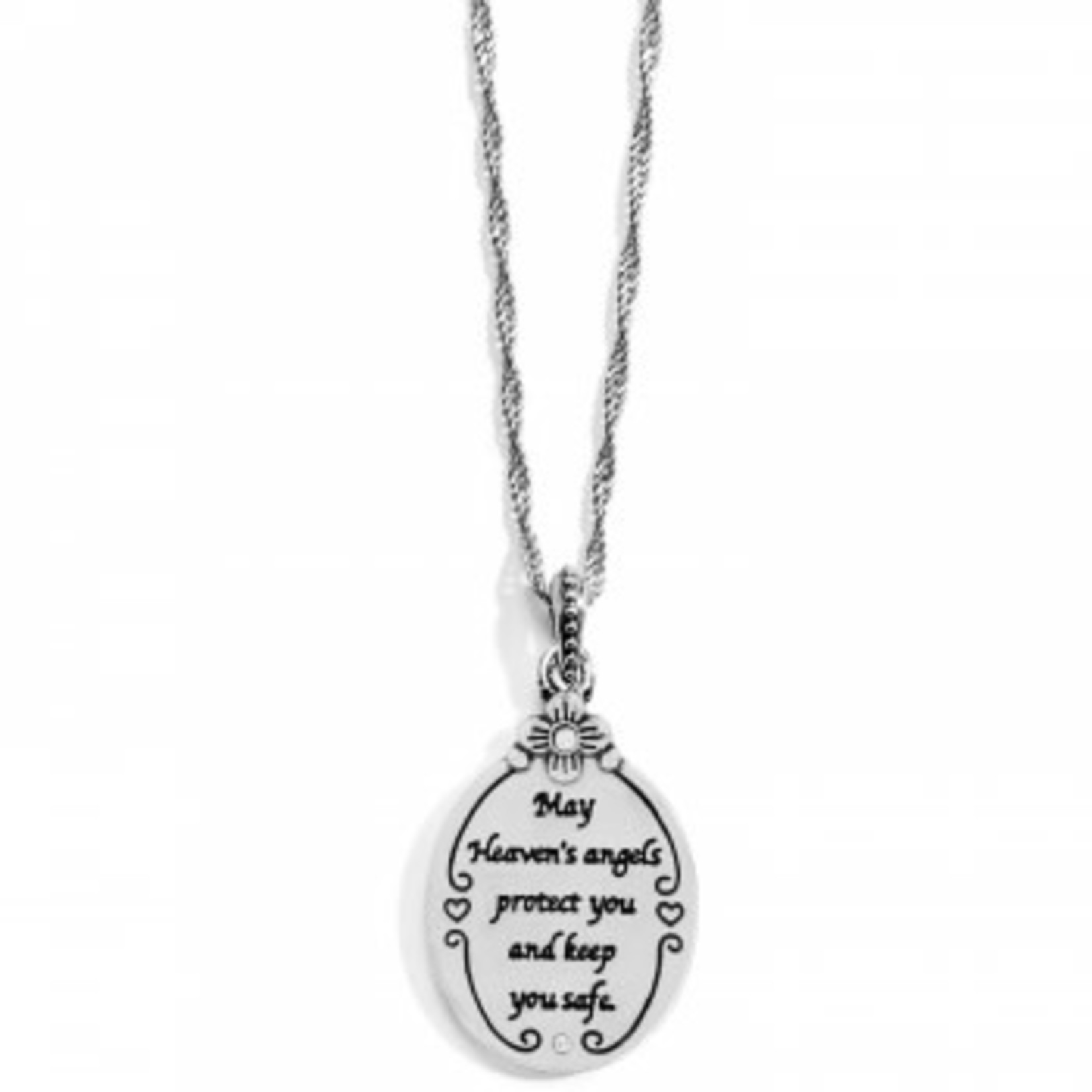 Brighton Guardian Angel Petite Necklace Silver
