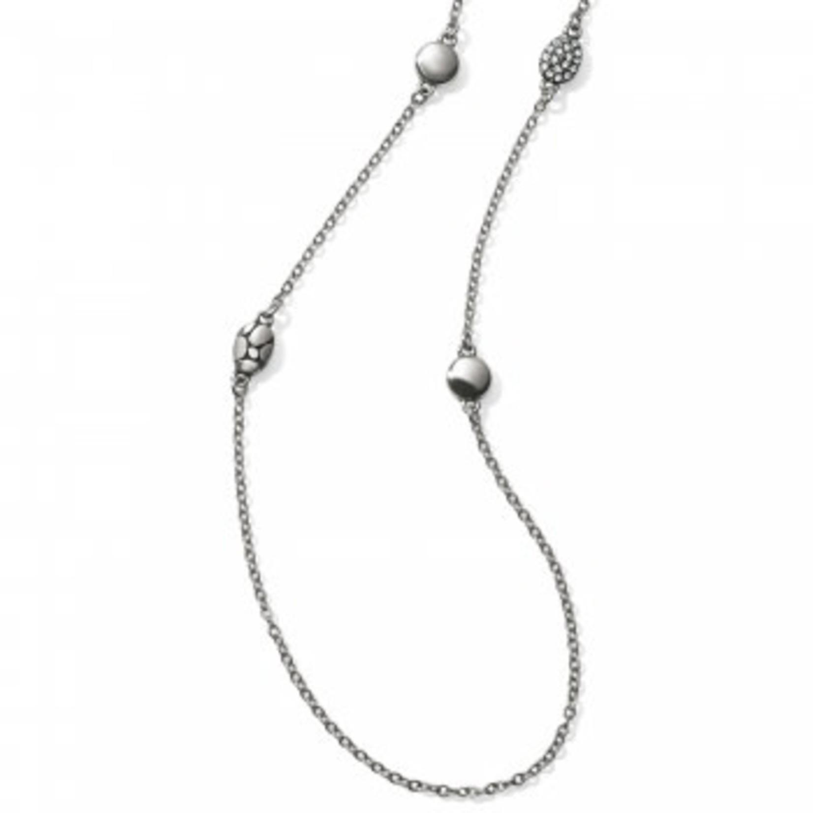 Brighton Pebble Mix Long Necklace Silver