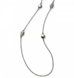 Brighton Pebble Mix Long Necklace Silver