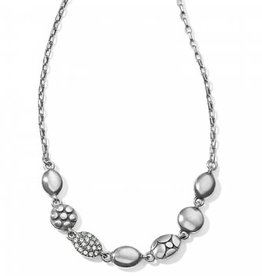 Brighton Pebble Mix Short Necklace; Size : Silver
