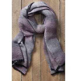 Tickled Pink Ombre Ridged Scarf - Pink and Gray